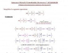 Esercizi su Formule Goniometriche di Addizione e Sottrazione