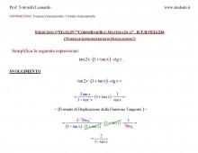 Esercizi su Formule Goniometriche di Duplicazione
