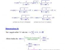 Formula di Seno e Coseno in Funzione della Tangente Goniomentrica